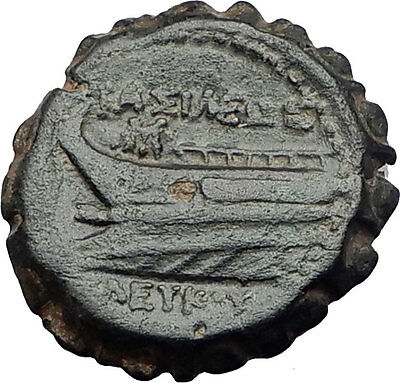 SELEUKOS IV PHILOPATER 187BC Seleukid DIONYSUS GALLEY Ancient Greek Coin i60768