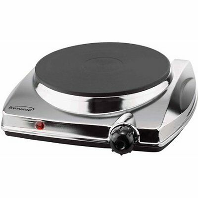 Brentwood Single Hot Plate, Chrome W