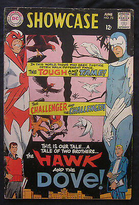 SHOWCASE #75 1st HAWK & DOVE App. 1968 DC Comics 2.0 GD Teen Titans Silver Age