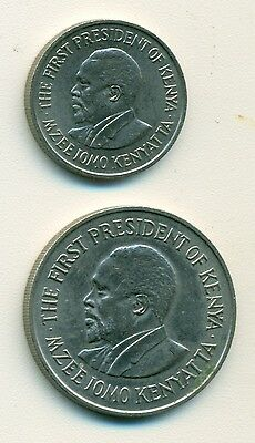 2 DIFFERENT COINS from KENYA - 50 CENTS & 1 SHILLING (BOTH DATING 1978)