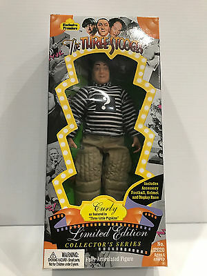 "1995 The Three Stooges Curly ""Three Little Pigskins"" Limited Edition Figure MIB"