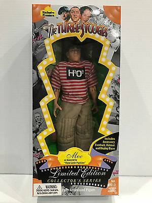 "1995 The Three Stooges Moe ""Three Little Pigskins"" Limited Edition Figure MIB"