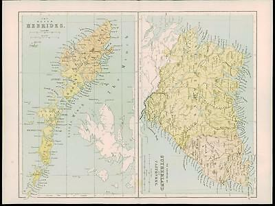 1865 - Antique Map of SCOTLAND OUTER HEBRIDES SUTHERLAND CAITHNESS  (4)