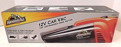 ArmorAll Wet/Dry 12V Car Vacuum Cleaner, Wet and Dry Debris, Car Vac, New