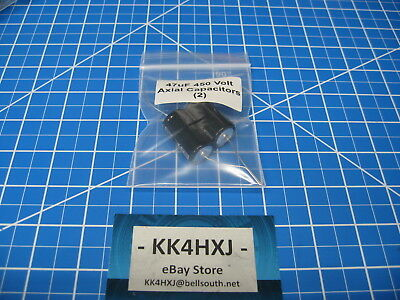 47uF 450V Axial Electrolytic Capacitors - 105C 2000Hr - lot of 2