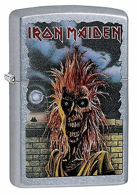 Zippo Windproof Lighter With Iron Maiden Logo and Design, 29433, New In Box