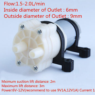 DC 6V-12V mini liquid pump water oil pump 385 Diaphragm pump multi-purpose fun