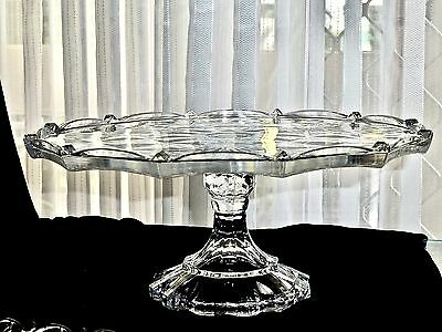 Fabulous Crystal Footed Cake Plate