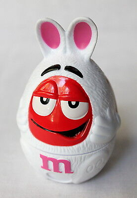 2013 Red M&M Mars Easter Bunny Holiday Plastic Figurine Candy Holder Dispenser