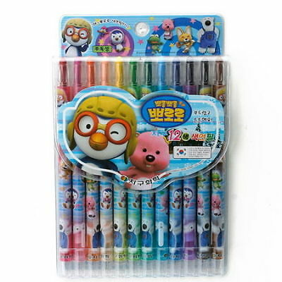 TWIST UP Mechanical Colored Pencils Crayons MECHANICAL 12 colors character kids