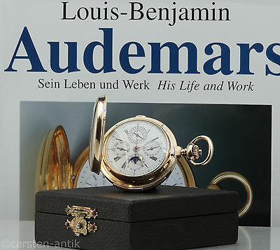 Louis Audemars Grand Complication 213g / 7Oz 18k Gold Pocket watch Book & Box