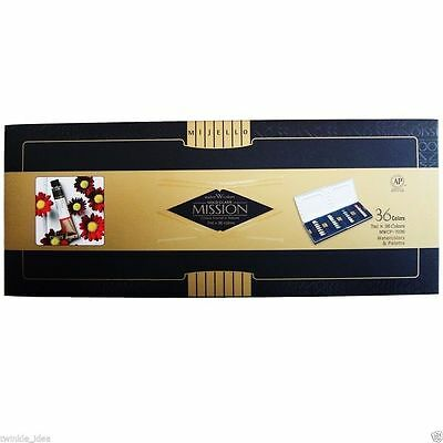 [MIJELLO] Mission Gold Watercolor Package with 36 Colors and Palette MWCP-7036