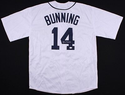 44a136b29d4 Jim Bunning Signed Detroit Tigers Jersey (JSA) 3× Strikeout leader (59