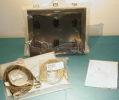 "IBM TOSHIBA 4820-2LG Sure Point 12"" LED Touch Display Infared  w/ Cables CD NEW"