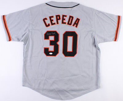 Orlando Cepeda Signed Giants Jersey (JSA COA) 11 x All Star   Hall of cc20d7ec5