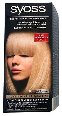 Syoss Professional Performance Coloration 10-1 Platinperlmuttblond Haarfarbe