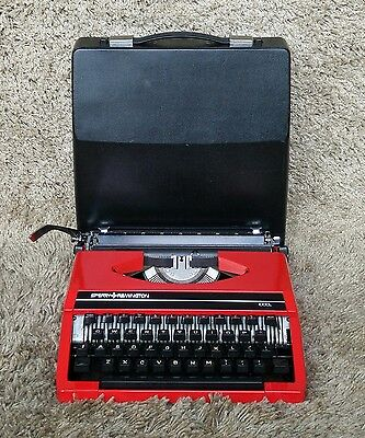 Remington Sperry Idool | Portable Typewriter | Made in Holland 1980's | Red