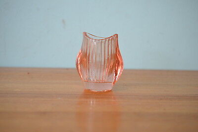 Vintage pink glass eyeball wash sklo  eye ball 50s mid century