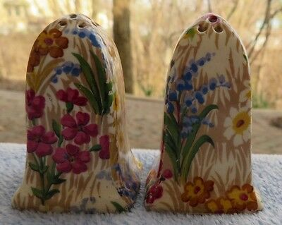 Royal Winton Marguerite Floral Chintz Salt and Pepper Shakers