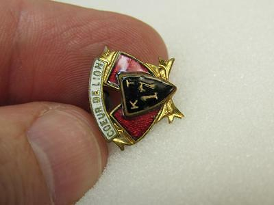 Knights Templar Masonic Fraternal Old Coeur De Lion pin (17C1)