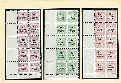 Tokelau Islands SG 122-15 Normal & Narrow setting in Block of 10 UM