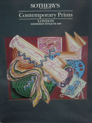 SOTHEBY'S Contemporary Prints June 1989, London