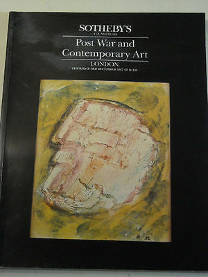 SOTHEBY'S Post-War & Contemporary Art, December 1987