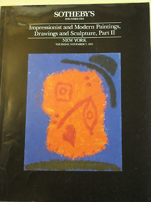 SOTHEBY'S Impressionist, Modern Paintings 1991