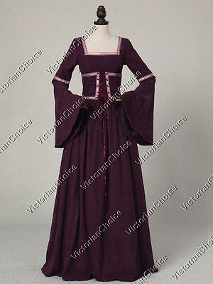 Medieval Renaissance Queen Guinevere Game of Thrones Reenactment Dress R401