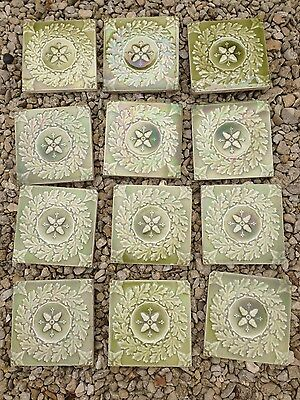 Antique Mintons China Works Tiles x 12