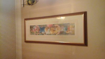 Lucelle Raad Red Balloon Signed Framed Limited Edition Print No 185/950
