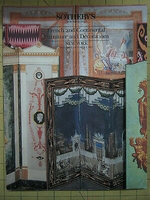 Sotheby's FRENCH/CONTINENTAL FURNITURE New York auction catalog October 1991