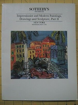 Sotheby's IMPRESSIONIST & MODERN PAINTINGS, PART 2 NYC auction catalog May 1991