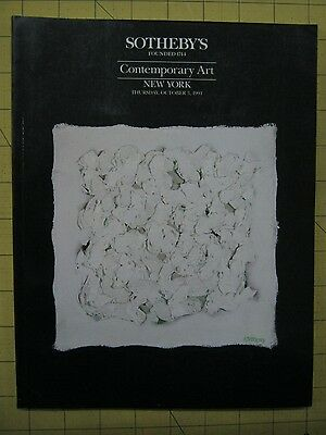 Sotheby's CONTEMPORARY ART New York auction catalog October 1991
