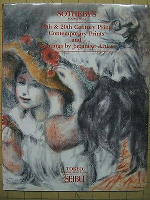 Sotheby's 19TH-20TH CENTURY JAPANESE PRINTS/PAINTINGS Tokyo auction catalog 1992