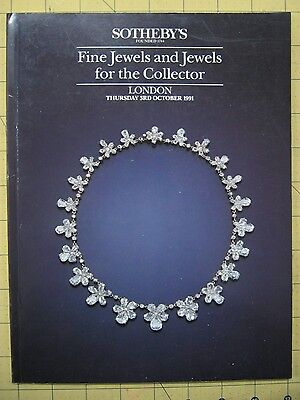 Sotheby's FINE JEWELS & FOR THE COLLECTOR October 1991 London auction catalogue