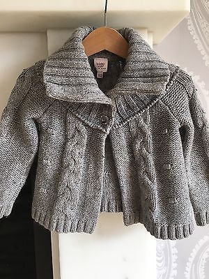 Baby Girls Ted Baker Grey Cardigan, Age 12-18 Months