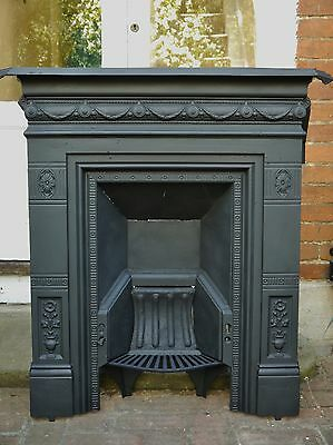 Antique Cast Iron Fireplace - restored