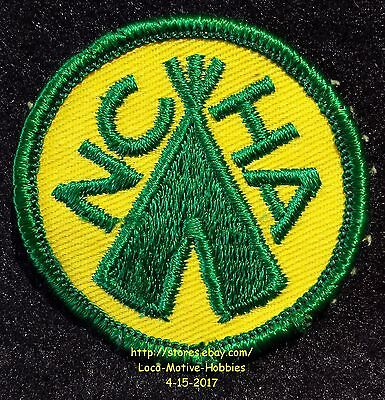"""LMH PATCH Badge  NCHA Tent  NATIONAL CAMPERS HIKERS Assn. Camping TEEPEE Logo 2"""""""