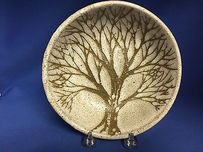 ANDERSEN DESIGNS of Maine Studio Art Pottery Bowl Hand-painted Trees Signed