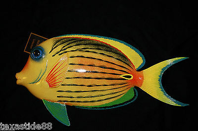 """(1)pc, SEAFOOD RESTAURANT DECOR, COLORFUL TROPICAL FISH WALL HANGINGS, 12"""", F-67"""
