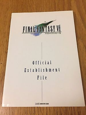 Final Fantasy VII Official Establishment File Art Book Square Enix FF7