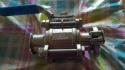 Best value vacs stainless steel tri clamp ball valve 1 1/2 inch