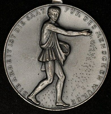 1957 AARGAU-MOHLIN SWISS SHOOTING MEDAL R-60a 40mm SILVERED BRONZE RARE