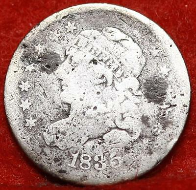 1835 Philadelphia Mint Silver Capped Bust Half Dime Free Shipping