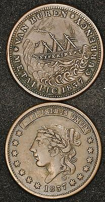 1837 & 1841 Hard Times Tokens Lot Of (2) Tokens