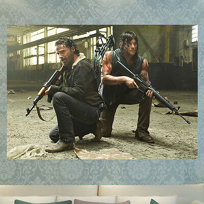 The Walking Dead Daryl Rick Poster Print Picture Photo A4 A3 260Gsm Glossy