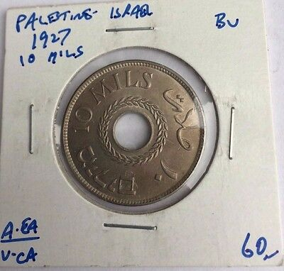 Palestine Israel Islamic Arabic coin 20 Mils 1927 British Administration