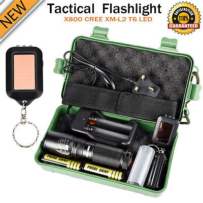 8000LM ShadowHawk G700 X800 LED Zoom Military Grade Tactical Flashlight Torch UK