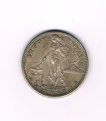 1944 S Philippines Fifty Centavos - Very Nice Collectible Coin